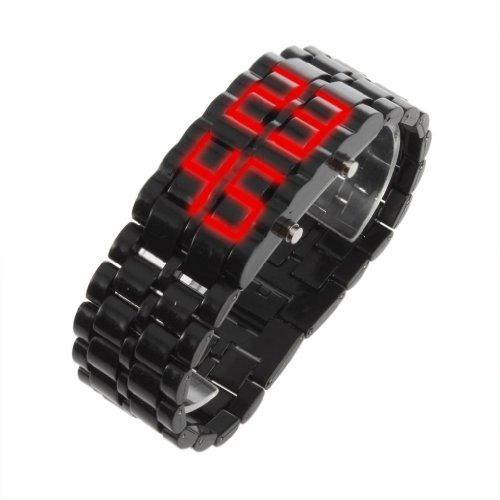 Gleader LED Digital Lava Armbanduhr fuer Maenner und Frauen