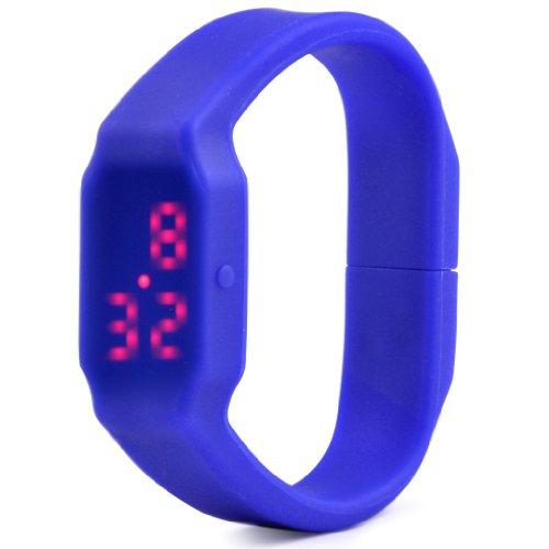 Gleader Multifunktion LED Buerokratie Uhr 3 7GB USB Stick Armbanduhr