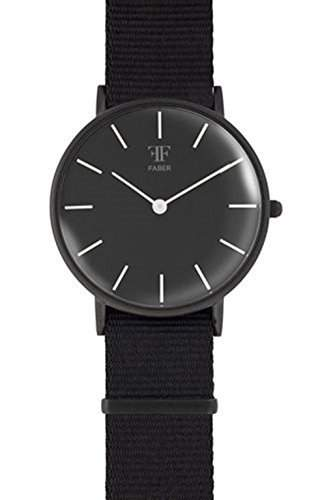 Faber Damen-Armbanduhr Analog Quarz Nylonband F500BK