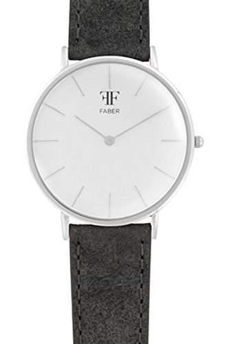 Faber Herren-Armbanduhr Analog Quarz Lederband F809SL
