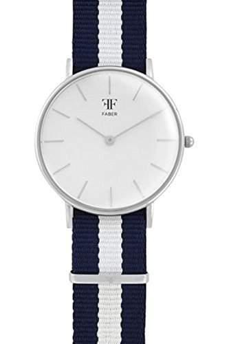 Faber Damen-Armbanduhr Analog Quarz Textilband F902SL