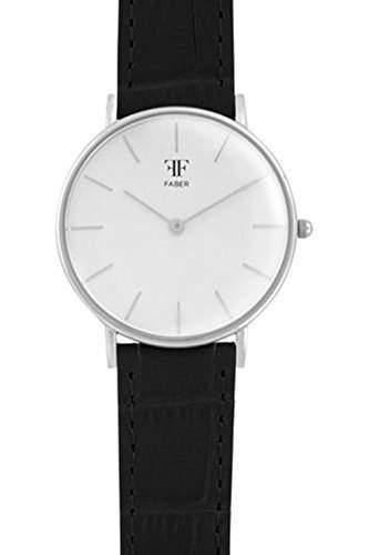 Faber Damen-Armbanduhr Analog Quarz Lederband F908SL
