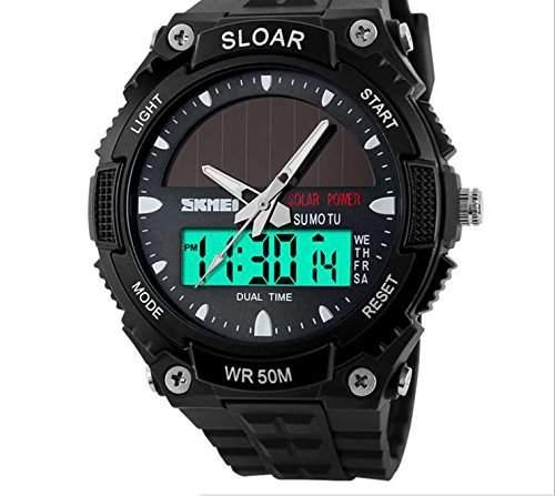 LED faschion Armbanduhr Herrenuhr Sportuhr Herren Sport Uhren Analog Digital Schwarz
