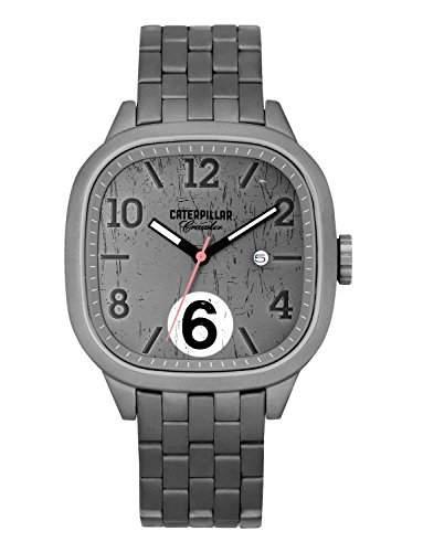 Caterpillar Crawler Mens Grey Stainless Steel Date Watch CR14111131