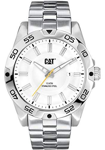 Caterpillar Mens Silver Stainless Steel Date Watch IN14111222