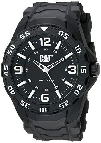 CAT Herren-Armbanduhr Analog Gummi Schwarz LB11121132