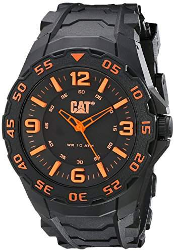 CAT-LB11121134-Herren-Uhr-Quarz analog Gummi Schwarz