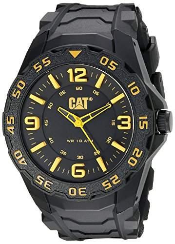 CAT Herren-Armbanduhr Analog Gummi Schwarz LB11121137
