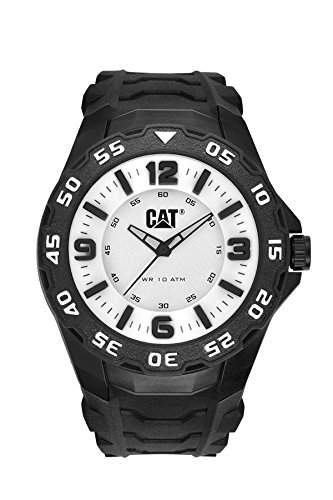CAT-LB11121231-Herren-Uhr-Quarz analog Gummi Schwarz