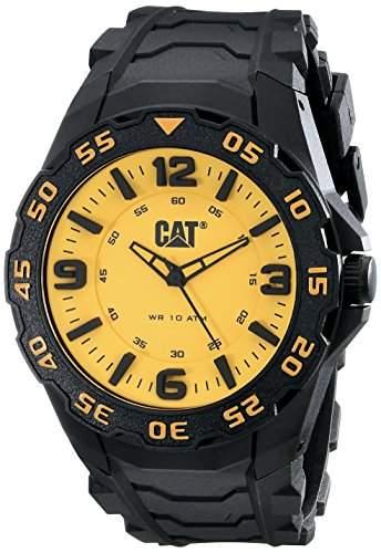 CAT Herren-Armbanduhr Analog Gummi Schwarz LB11121731