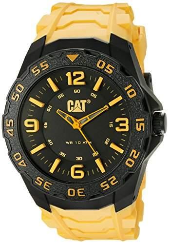 CAT Herren-Armbanduhr Analog Gummi Gelb LB11127137