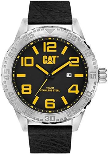 CAT Herren-Armbanduhr Camden XL 52MM Analog Quarz Leder NH14134137