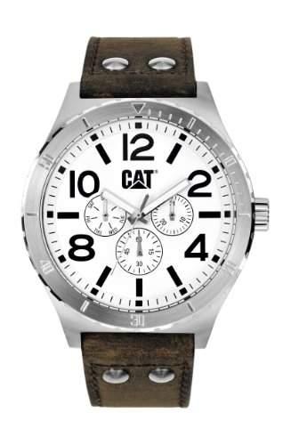 CAT-NI14935232-Herren Uhr-Quarz-Analog Leder Braun