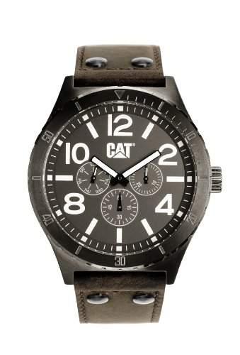 CAT Herren-Armbanduhr Analog leder braun NI15935535