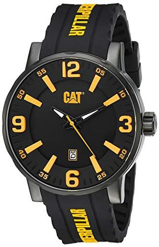 Caterpillar Mens Black Silicone Date Watch NJ16121137