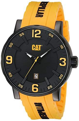 Caterpillar Mens Yellow Silicone Date Watch NJ16127137