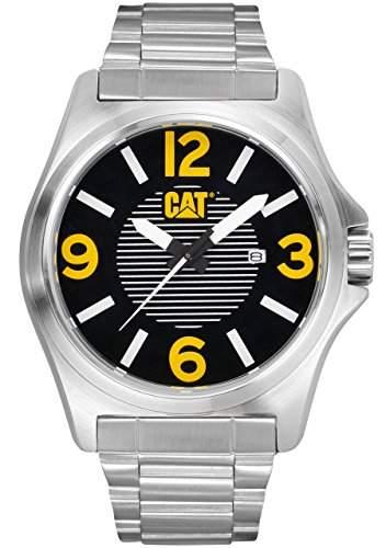 Caterpillar DP XL date Mens Silver Stainless Steel Date Watch PK14111137