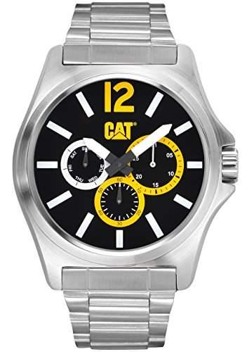 Caterpillar Herren-Armbanduhr Analog edelstahl Silber PK14911137