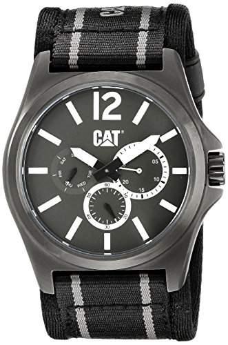 CAT-PK15965135 Herren Uhr-Quarz-Analog-Stoff, mehrfarbig
