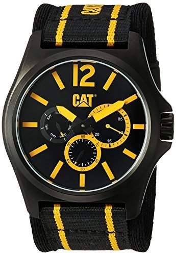 Caterpillar DP XL multi Mens Multicoloured Fabric Day & Date Watch PK16961137