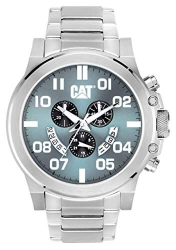 Cat MenChicago Herren-Armbanduhr 17251562 Analog-Anzeige und Silber-Edelstahl-Armband PS14311331