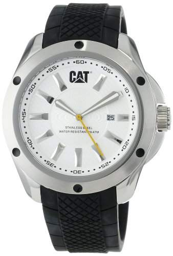 Caterpillar Stream Mens Black Rubber Date Watch YQ14121222