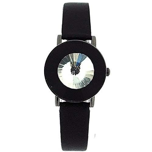 Anaii Pink Instinct weisse aufklappbare Kristall Damen Mode Armbanduhr AP526