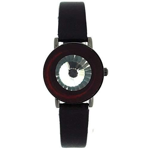 Anaii Pink Instinct schwarze aufklappbare Kristall Damen Mode Armbanduhr AP526