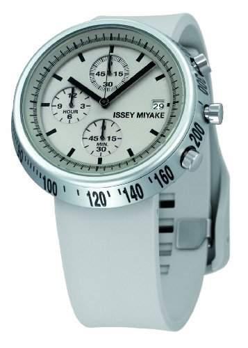 Issey Miyake Unisex-Armbanduhr Chronograph grau IM-SILAT004