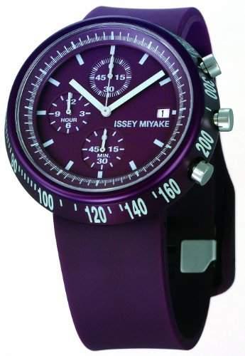 Issey Miyake Unisex-Armbanduhr Chronograph violett IM-SILAT006