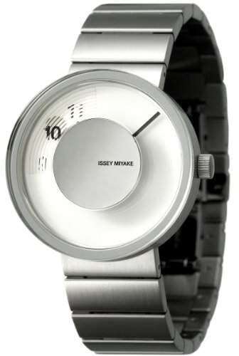 Issey Miyake Unisex-Armbanduhr Analog Edelstahl weiss IM-SILAV001