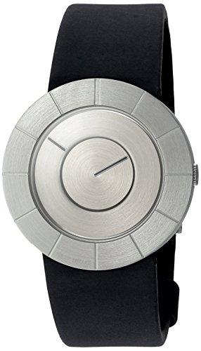 Issey Miyake bis Quarz Edelstahl und Polyurethan Casual Uhr Farbe Schwarz Modell SILAN003