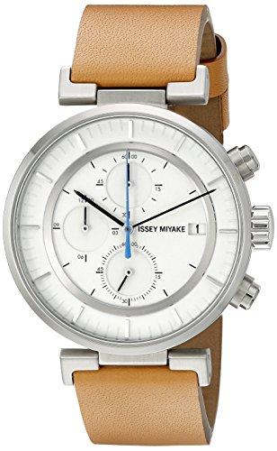 Issey Miyake Herren silay008 W Analog Display Quarz Braun Armbanduhr