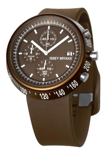 Issey Miyake Unisex Armbanduhr Chronograph braun IM SILAT007
