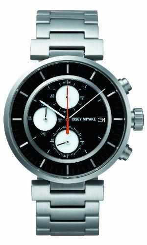 Issey Miyake Unisex Armbanduhr W Chronograph edelstahl schwarz SILAY001