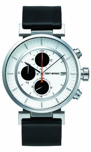 Issey Miyake Unisex Armbanduhr W Chronograph leder schwarz SILAY003