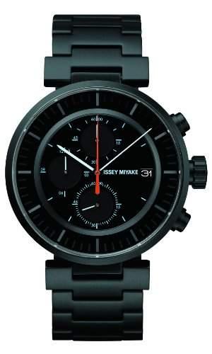 Issey Miyake Unisex-Armbanduhr W Chronograph edelstahl Schwarz SILAY002