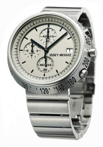Issey Miyake Trapazoid Unisex Armbanduhr Chronograph Anzeige und Silber-Edelstahl-Armband SILAZ002