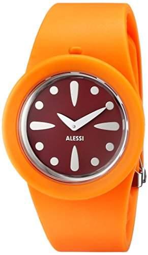Alessi Unisex-Armbanduhr Analog Quarz Kunststoff orange AL1001