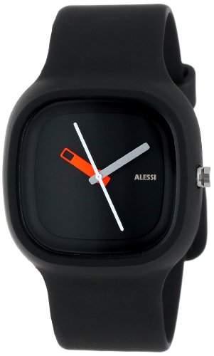 Alessi Unisex-Armbanduhr Analog Quarz Plastik schwarz AL10010