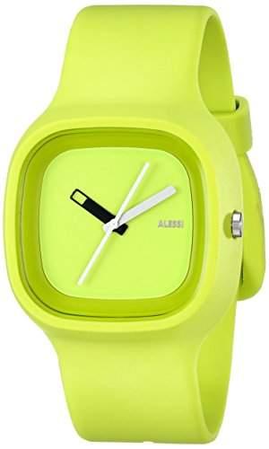 Alessi Unisex-Armbanduhr Analog Quarz Plastik gruen AL10011