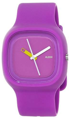Alessi Unisex-Armbanduhr Analog Quarz Plastik violett AL10015