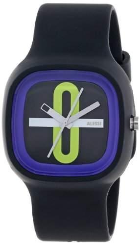 Alessi Unisex-Armbanduhr Analog Quarz Plastik schwarz AL10020
