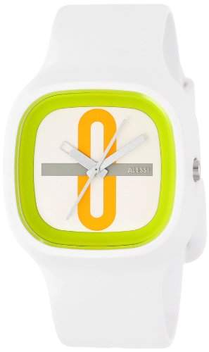 Alessi Unisex-Armbanduhr Analog Quarz Plastik weiss AL10021