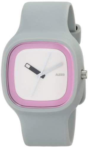 Alessi Unisex-Armbanduhr Analog Quarz Plastik grau AL10022