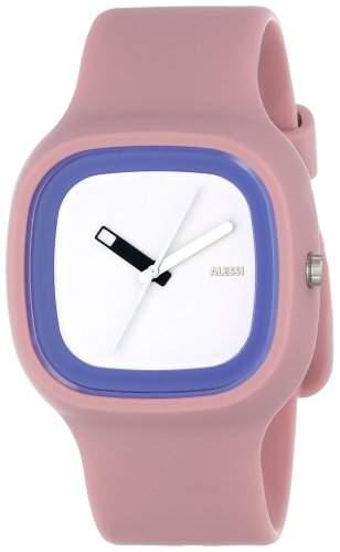 Alessi Unisex-Armbanduhr Analog Quarz Plastik rosa AL10023