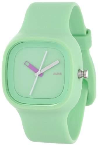 Alessi Unisex Armbanduhr Analog Automatik Analog Quarz Kunststoff gruen AL10024 oder Armband