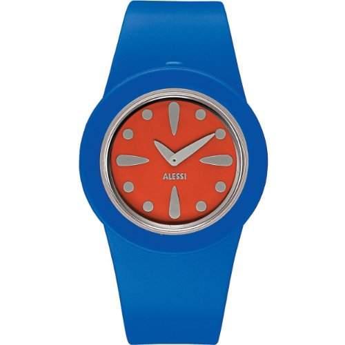 Alessi Unisex-Armbanduhr Analog Quarz Kunststoff blau AL1015