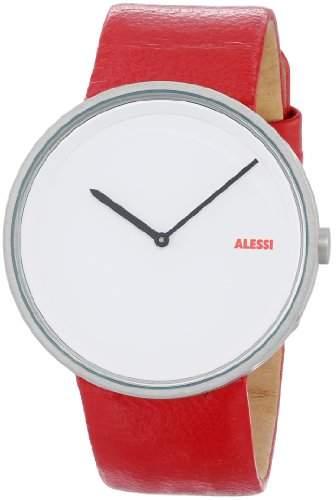Alessi Herren-Armbanduhr Analog Quarz Leder AL13002