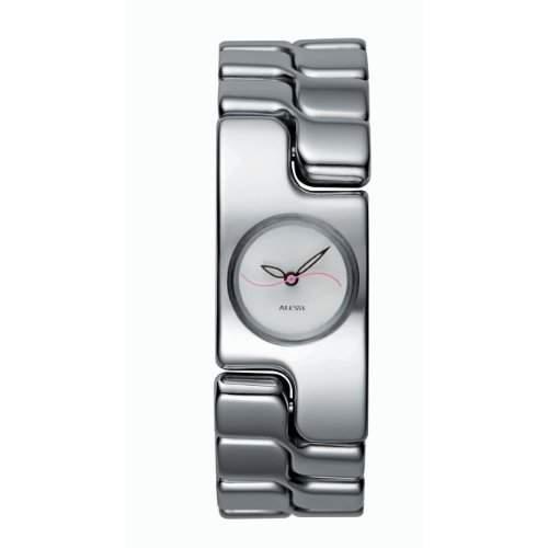 Alessi Damen-Armbanduhr Analog Quarz Edelstahl silber AL15000